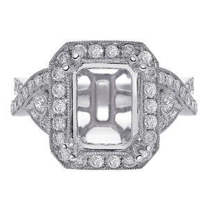 0.90 Ct Diamond Engagement Mounting 18K White Gold